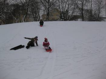 Blog Suecia1 Ni la nieve nos impide hacer deportes y divertirnos en el centro de la ciudad